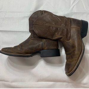 Tony Lama Western Cowboy Brown Boots Size 10
